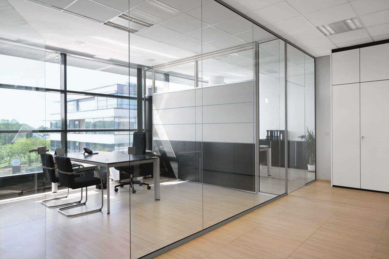 cloisons de bureaux vitrées bord-à-bord